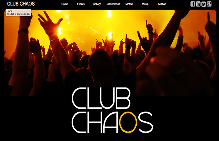 Image of Club Chaos Home Page