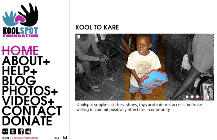 Image of Kool Spot Foundation Home Page